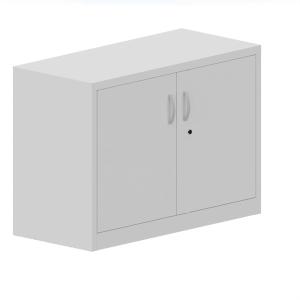 Armário com porta batente de metal com 1 prateleira 71x100x45 cm branco