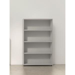 Estante de 2 prateleiras com medidas 143x45x90 cm cinzento cinzento