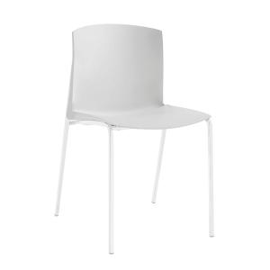 Cadeira SL- 8 de 4 pés de cor branca sem braços
