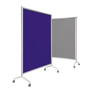 Painel de ecrã móvel nas dimensões 180 x 100 x 205 cor cinzenta