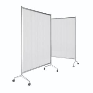 Painel de policarbonato translúcido móvel de 180x100x205cm cinzento