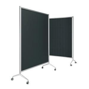 Biombo modular screen fabricado em alumínio 150x165x190 cm preto