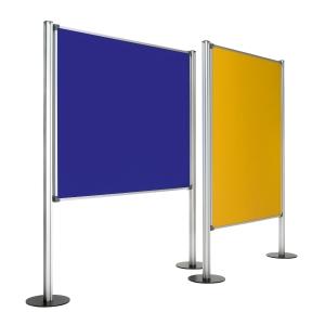 Painel de ecrã com fundo de tela com medidas 120x150 cm azul