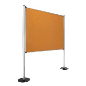 Painel de ecrã com fundo de cortiça com medidas 120x150 cm