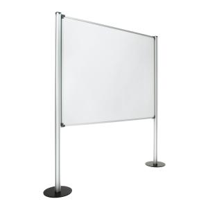 Painel de ecrã com fundo de melamina com medidas 120x150 cm cinzento