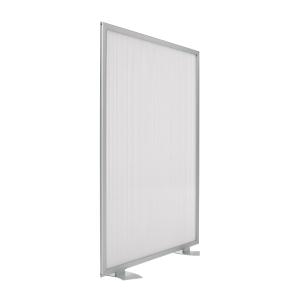 Biombo modular screen fabricado em alumínio 120x100 cm cinzento