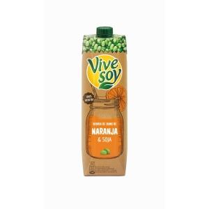 Garrafa de 1 litro de sumo laranja VIVESOY