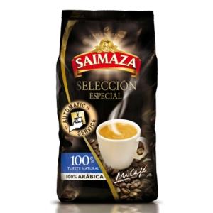 Pack de 1 kg de café em grão de torrefação natural 100% arábica