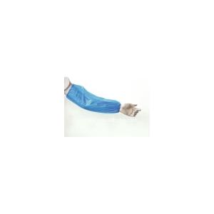 Caixa de 100 mangas RUBBEREX de polietileno. Comprimento 400 mm. Cor azul