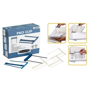 Caixa de 100 encadernadores clip fastener de cor azul. Comprimento de 10 cm