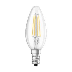 Lâmpada OSRAM PARATHOM® LED RETROFIT CLASSIC B não regulável CL B 40 4W/827 E14