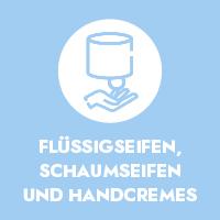 Flüssigseifen, Schaumseifen und Handcremes