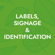 Label signage and identification