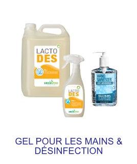 gel pour les mains & desinfection