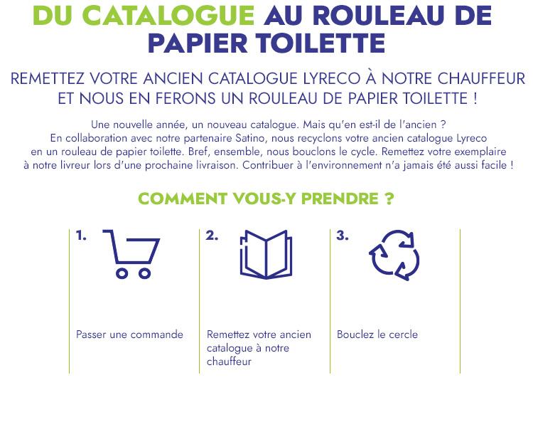 Lyreco Satino catalogue papier toilette