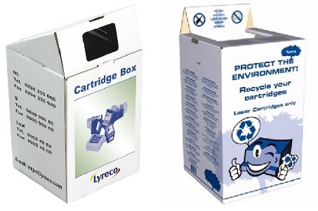 Ophaalboxen toners en inkcartridges
