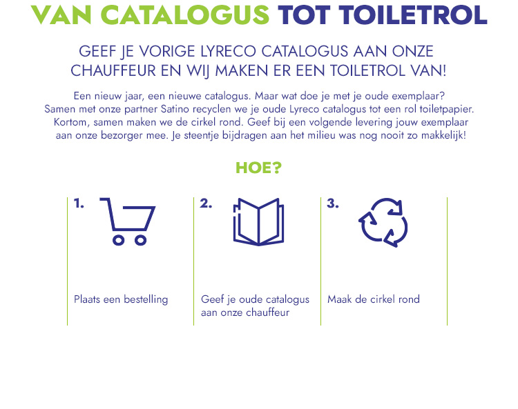 Lyreco Satino recycle catalogus toilet papier